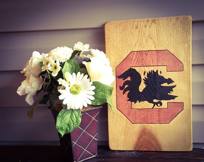 SC Gamecocks, Hand Painted, Stained, Wood Sign, Fan Cave, Man Cave, South Carolina, Gamecocks Wood Sign, SC Wood Sign, SC Wooden Sign