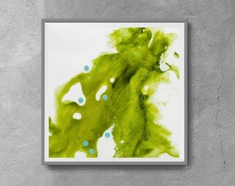 Printable abstract,green and white,contemdorary art, modern art ,INSTANT DOWNLOAD, print from original painting,12x12
