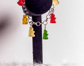 Gummy Bear Charm Bracelet