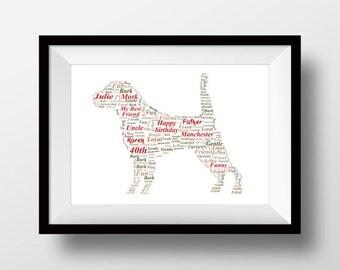 Beagle artwork, Beagle  print, Beagle present, Beagle gift, Beagle drawing