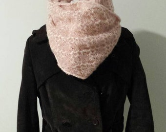 Knitted scarf in patent stitch, Women's Winter Scarf, Wool Scarf, Gift