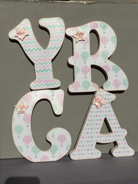 letters baby shower decorations nursery door letters wall art baby
