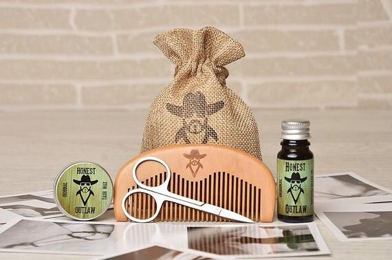 honest outlaw men 39 s beard grooming kit oil wax. Black Bedroom Furniture Sets. Home Design Ideas