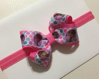 Doc Mcstuffins Headband Pink Baby Bow Headband Baby Headband Pink Headband Newborn Headband Doc Mcstuffins Boutique Bow