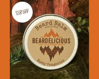 Tangerine Scented - Beard Balm Scent - Beard Grooming Balm - Beard Conditioner - Beard Softener - Beard Balm Gift - Best Beard Balm