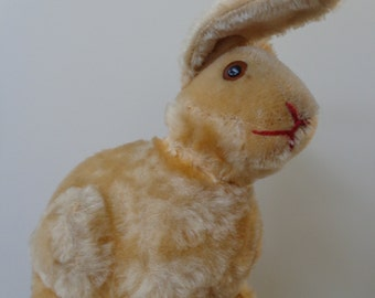 Vintage Steiff rabbit dated about 1949 prewar rabbit Steiff button underscored f moahair glass eyes