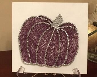 "READY TO SHIP Purple Pumpkin 9""x9"""