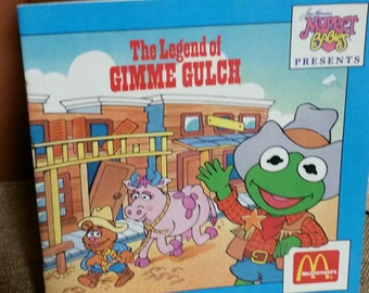 The Muppets The Legend of Gimme Gulch/Vintage 1988 McDonalds Fast Food Promo Book/Henson's Muppets/McDonald's Happy Meal Toys/Softcover Book