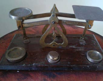 1800s Postal Scale with Weights