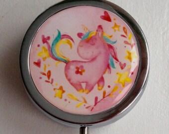 Pill, jewlery and little treasure/ BOXE/ Pink or navy/ unicorn