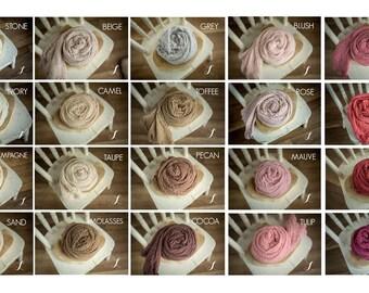 PICK FIVE Newborn Cheesecloth Wrap : Newborn Wrap Set, Newborn Photo Prop, Baby Wraps, Newborn Photography