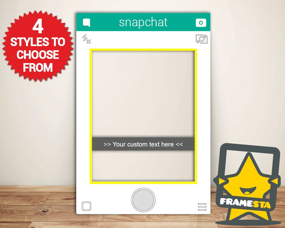 Snapchat Frame Custom Designed Photo Booth Prop By Framesta