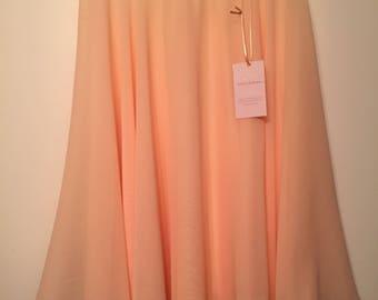 Knee Length Chiffon Ballet Skirt in Peach (Hook and Eye Closure)