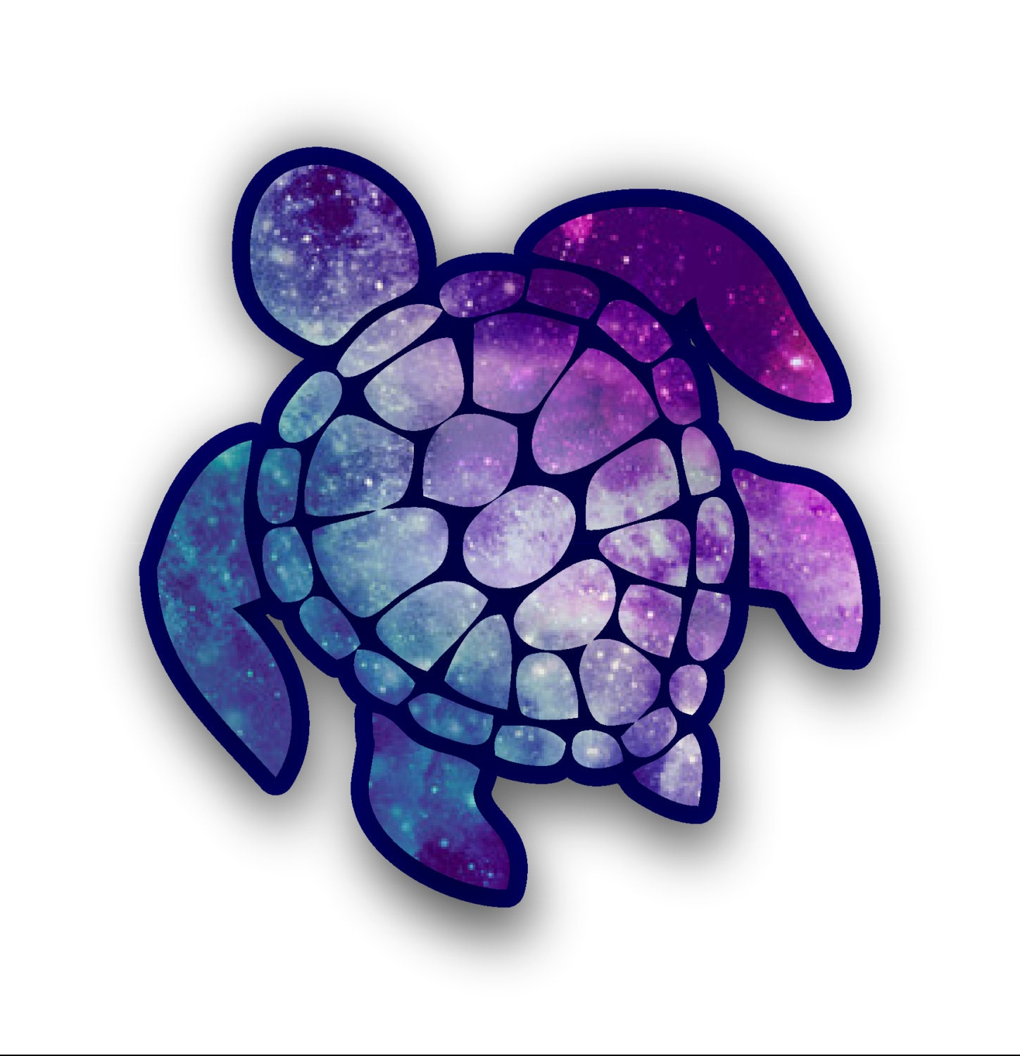 Sea Turtle Decal Sticker Color Starry Sky Free Shipping