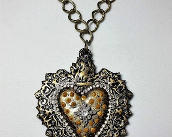 Sacred Heart IV Pendant Necklace