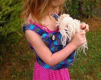 Crochet baby doll carrier - mei tai - ergo -tula