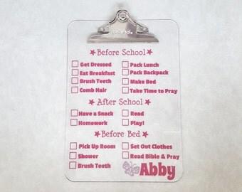 Chore Chart - Personalized Chore Chart Clipboard - Personalized Gift - Chore Chart Clipboard - Boy Chore Chart - Personalized Chore Chart