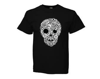 Kid T-SHIRT KOMOA Mechanical skull BLACK