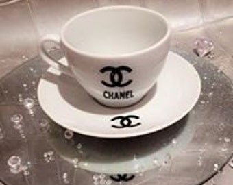 chanel tea cup and sauser