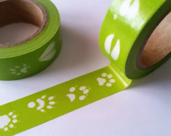 wildlife footprints Washi Tape
