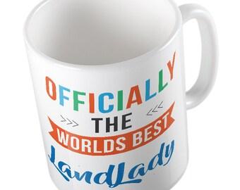 OFFICIALLY the worlds best LANDLADY mug