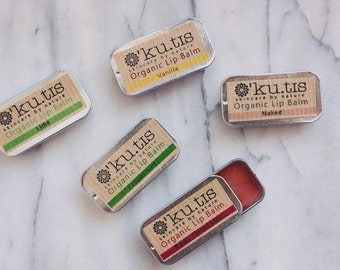 Organic Lip Balms - Slider Tins - Nourishing - Natural