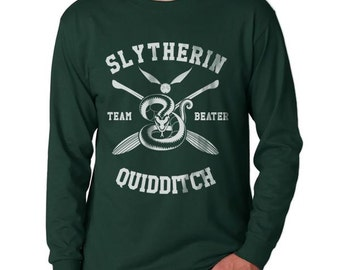 BEATER - Slyth Quidditch team Beater on Longsleeve MEN tee Forest Green
