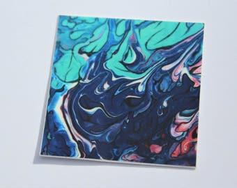 Abstract Vinyl Sticker