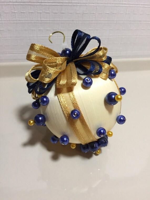 Victorian silk Christmas ornament, handmade Victorian pearl beaded silk ornament, Christmas ornament, gifts for Christmas, handmade ornament