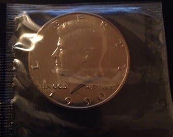 1990 P Kennedy Half Dollar, BU