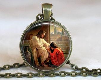 Mary Magdalene Pendant, Catholic Jewelry, Catholic Saint Necklace, Saint Mary Magdalene Necklace