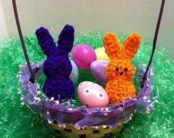 Crocheted Peeps Set of 2, Crochet Easter Peeps, Stuffed Easter Peeps, Clemson Peeps
