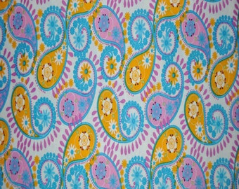 Pastel Paisleys Cotton Fabric (By The Yard)