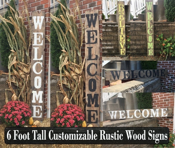 Yard signs decorative signs wood name signs vertical signs for Outdoor decorative signs