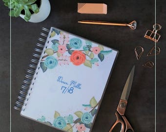 Agenda A5 2017 - 18 floral cover
