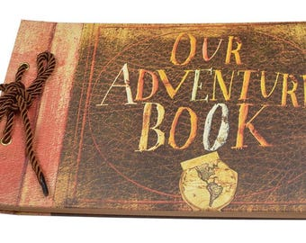 "Anniversary Photo Album Scrapbook - Our Adventure Book Wedding Photo Album Scrapping 11.6""x7.5"" inches, 80 Pages"