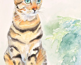Cat No12 family water color