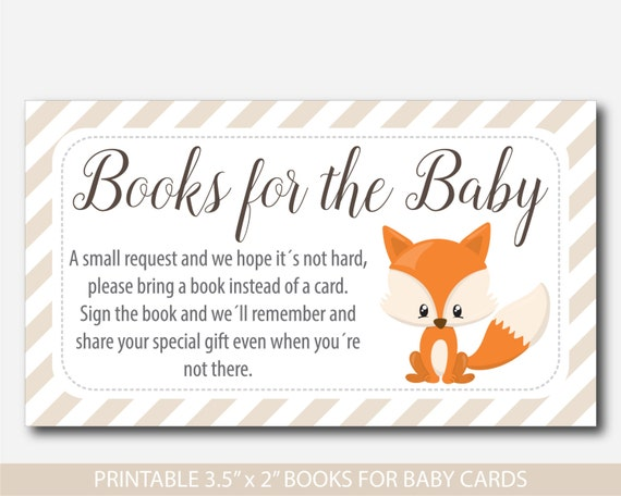 Resource image for bring a book instead of a card printable