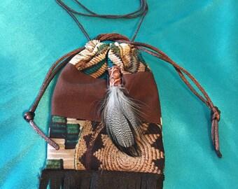 """4""""  or 3"""" Amulet bag/ Medicine Bag"""