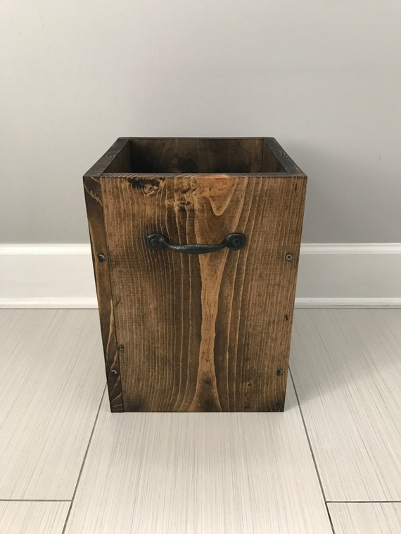 Rustic Garbage Can Bathroom Trash Can 4 Gallon Trush Office