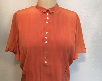 Late 1930's vintage blouse / 30's button back blouse / vintage tops