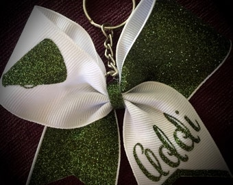 CHEER Bow KEYchain CHOOSE Text/Color