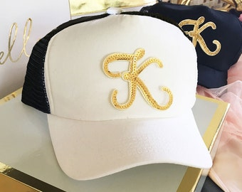Bridal Party Trucker Hat- Personalized Gifts - Bride to be - Bridal Party Gifts = Bachelorette Party