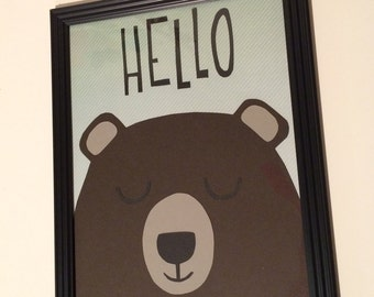 Friendly Bear for Nursery Decor