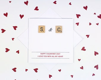 Personalised valentines card - Valentines card - Romantic card - Valentines card for him - Valentines card for her - Anniversary card