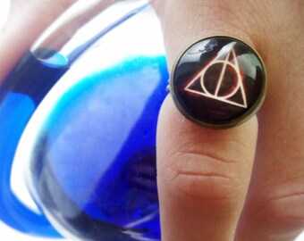 Harry Potter Deathly Hallows / Harry Potter ring / Deathly Hallows ring / Deathly Hallows Pendant
