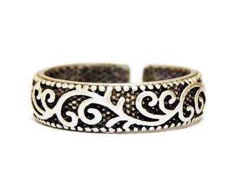 Adjustable Boho Ring, Gypsy Ring, Adjustable Silver Ring, Boho Ring, Engraved Ring, Boho Gypsy Ring, Bohemian Ring, Ottoman Ring