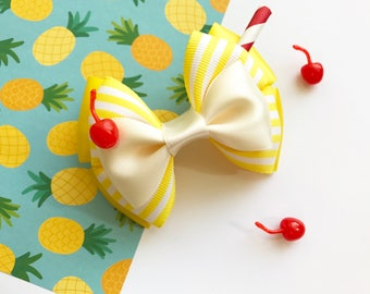 Pineapple Dole Whip Inspired Hair Bow