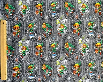 Fat Quarter  NINTENDO ZELDA SWORD Powers Springs Creative Quilting 100% Cotton  Fabric