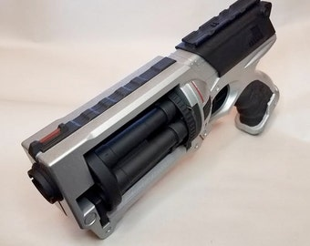 Hammered Silver and Black Modified Nerf Maverick Steampunk Space Captain Pirate Cosplay Fallout Futuristic